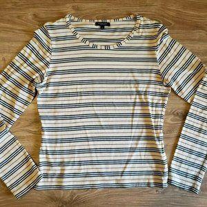 Burberry London   Small Striped Long-Sleeved Shirt